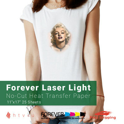 Forever Laser Light No-cut Heat Transfer Paper 11 X 17 - 25 Sheets