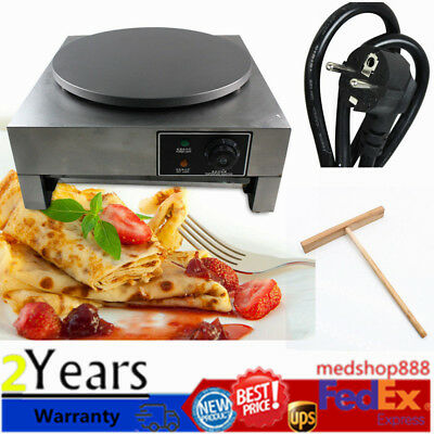 16 40cm Commercial Nonstick Electric Single Crepe Maker Pancake Machine Baker