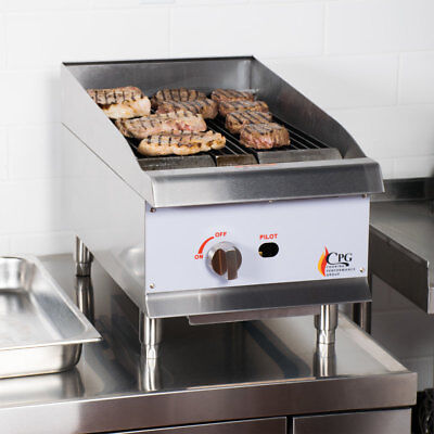 15 Natural Gas Lava Rock Commercial Restaurant Kitchen Countertop Charbroiler
