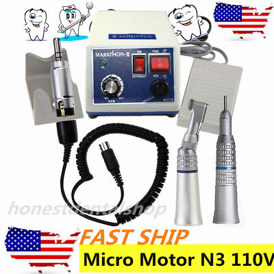 Dental Lab Marathon Electric Micro Motor N3contra Anglestraight Handpiece Us