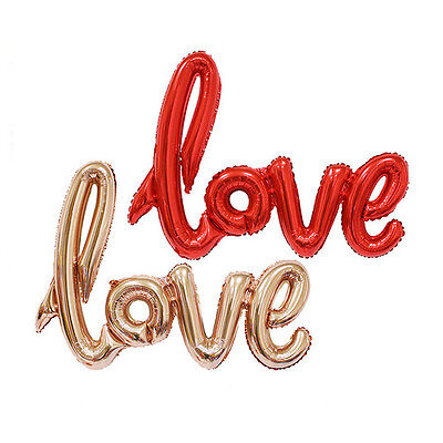 Love Letter Script Foil Balloon Hen Party Wedding Engagement Decor 42 Inch - Engagment Party