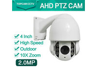 ptz ahd 2mp 4inch x 10 zoom cctv camera