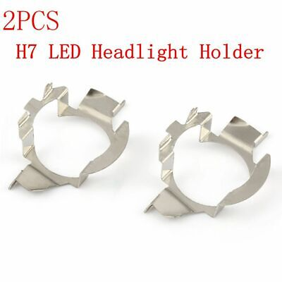2 x H7 LED Headlight Bulb Retainer Holder Adapter fit for VW Audi Benz BMW Buick
