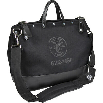 Klein Tools 510216SPBLK Deluxe Black Canvas Tool Bag, 16-Inch Klein 16 Canvas Tool Bag