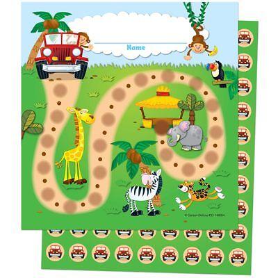 Jungle Safari Mini Incentive Charts Carson Dellosa CD-148004