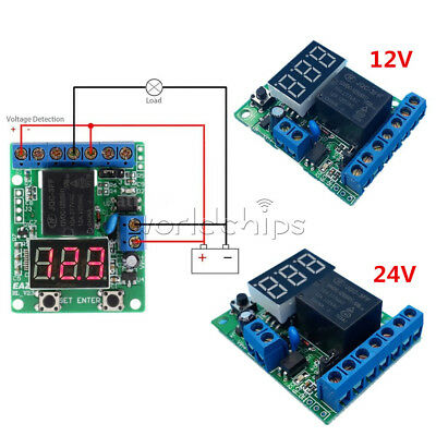 DC 12V/24V Control Delay Upper and Lower Voltage Range Voltage Detection Switch Low Voltage Detection