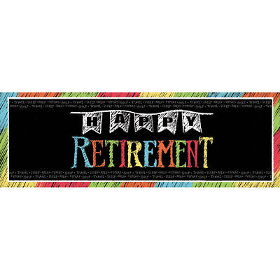 Giant Happy Retirement Banner 20