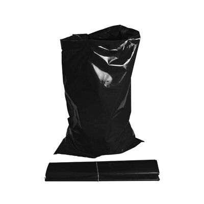 100 x Heavy Duty Black Builders Rubble Sacks/Bags 30kg+ FREE NEXT DAY DELIVERY