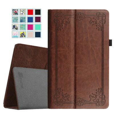 Folio Leather Case Stand Cover For All-New Amazon Fire HD 10 7th Gen 2017 Tablet ()