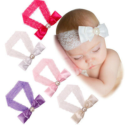 Kids Girls Baby Toddler Cute Bowknot Headband Hair Band Headwear Soft Material