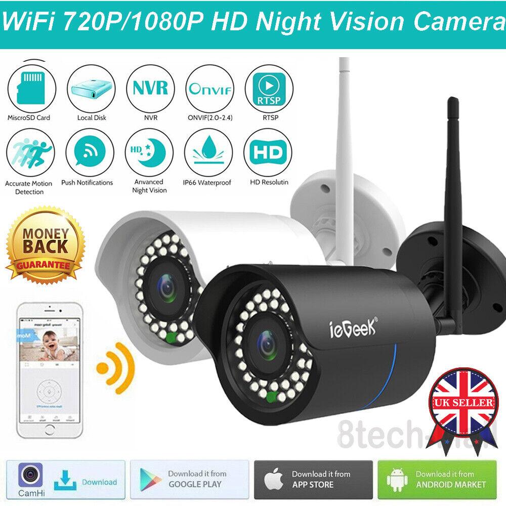 ieGeeK HD 1080P Camera Wireless WiFi IP Cam CCTV Outdoor