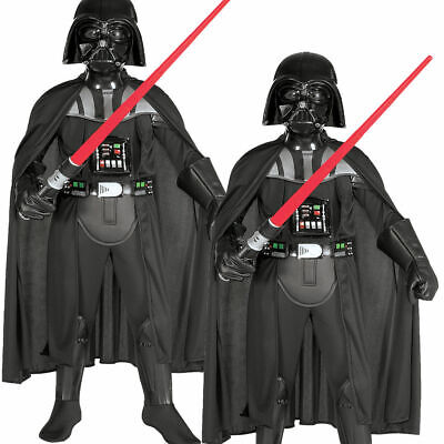 Child Darth Vader Deluxe Outfit New Fancy Dress Costume Star Wars Kids Boys