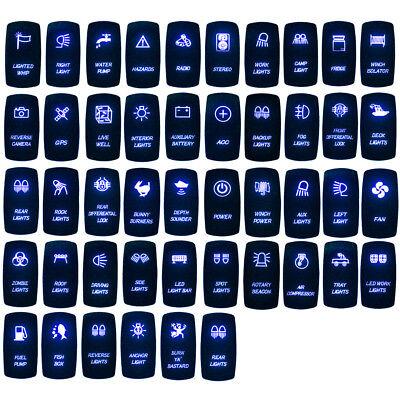 Blue Backlif Light Control Rocker Toggle Switch Button For ATV UTV ARB Carling