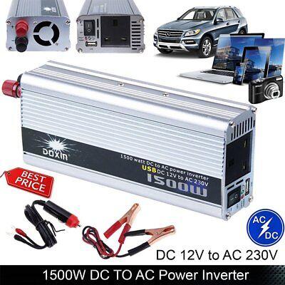 1500W Auto Inverter Car DC 12V to AC 220V Modified Power Converter Sine Wave  GR