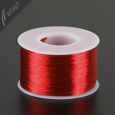Magnet Wire, Enameled Copper, Red, 32 AWG (gauge), SPN, 155C, ~1/2 lb, 2450ft