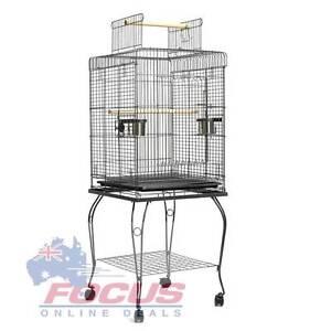 Parrot Pet Aviary Bird Cage w/ Open Roof 145cm Black Melbourne CBD Melbourne City Preview