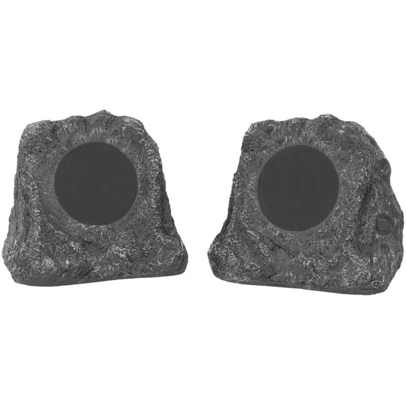 Bluetooth Outdoor Rock Speakers, Pair By Innovative Technology