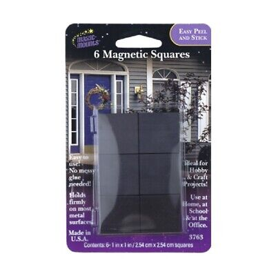 Magnetic Squares Adhesive 3763 Magic Mounts 1x1 Inch Made In Usa 6 Squares Black