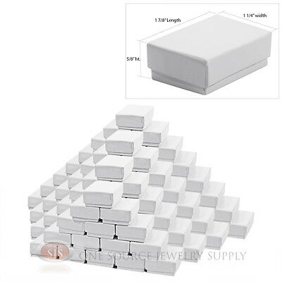 100 Gloss White Cotton Filled Gift Boxes 1 78 X 1 14 Charm Ring Jewelry Box
