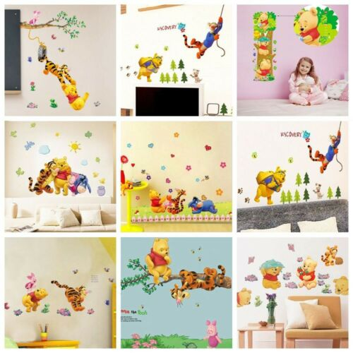 Home Decoration - Winnie The Pooh Wall Stickers Nursery Kids Bedroom Removable Mural Decal Decor