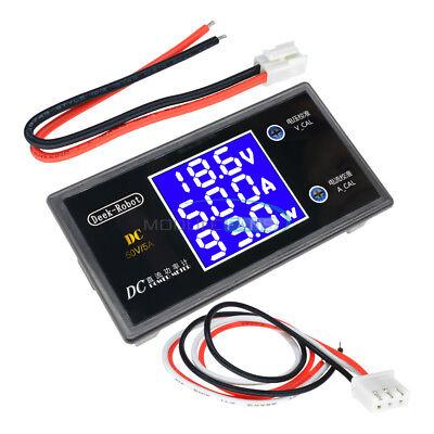 Dc 50v 5a 250w Digital Lcd Display Voltmeter Wattmeter Volt Current Power Tester