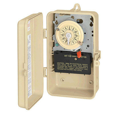 INTERMATIC T104P3 Swimming Pool Spa Timer Indoor/Outdoor 220v 24hr Time Clock