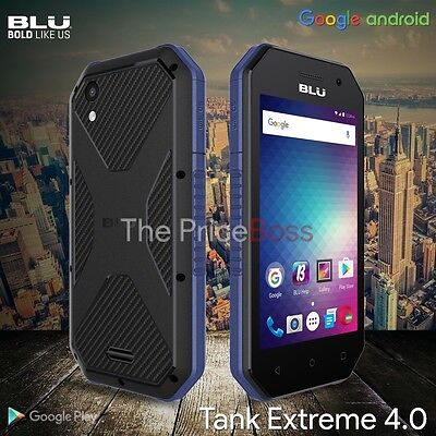 blu Tank Xtreme 4.0 Water Resistant T470u Android 6.0 4gb...