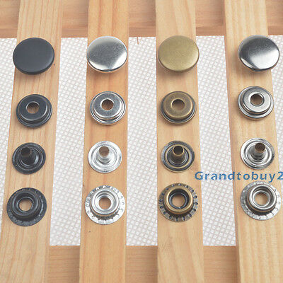 Heavy duty Poppers Ring Snap Fasteners Press Stud Sewing Leather Craft Clothing