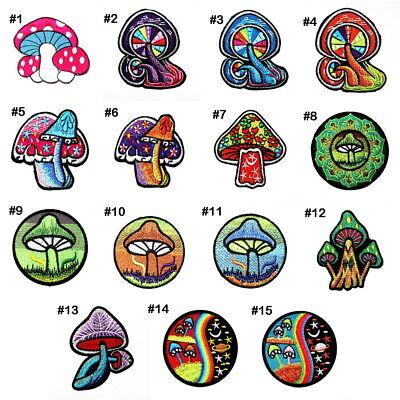 Magic Mushroom Rainbow Retro Hippie 70s Boho chic DIY Clothes Bag Iron on - Diy Hippie Clothes