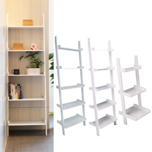 3 5 tier wooden wall rack leaning ladder shelf unit bookcase display stock uk in london - Ikea scaletta bagno ...