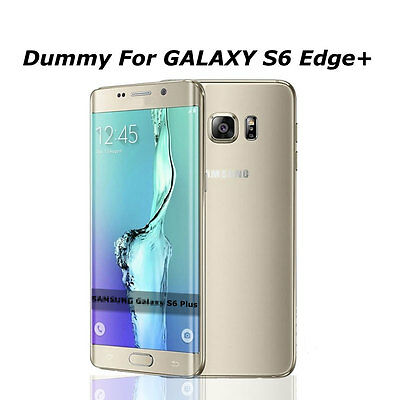 Gold Non Working Display Dummy Phone Fake Model For Samsung Galaxy S6 Edge+ Plus