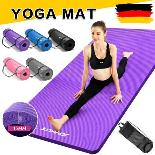 JOYHUT Yogamatte Fitnessmatte Gymnastikmatte Pilates Sportmatte Bodenmatte 15mm