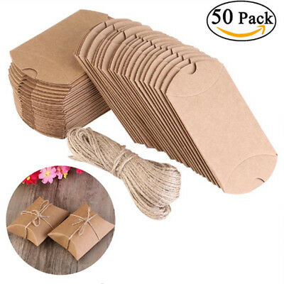 Brown Kraft Paper Box for Party Gift Wedding Favors Candy Jewelry Packing Lot (Brown Candy)