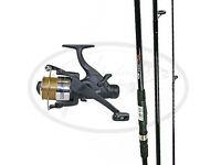 NEW Carp Max 12ft Fishing Rod Plus Max60 2bb Carp Free Runner Reel + Line