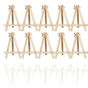 10x-MINI-WOODEN-ARTIST-EASEL-FOR-ARTWORK-DISPLAY-TABLE-5-6-Inch