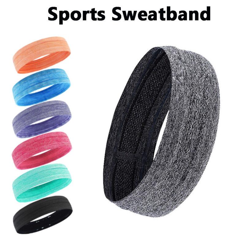 Moisture Wicking Wide Non-Slip Sport Headband Sweatband Gym