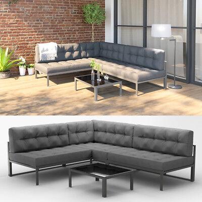 Alu Gartenmöbel Lounge Set + Palettenkissen Gartenlounge Sitzgarnitur  Sitzgruppe