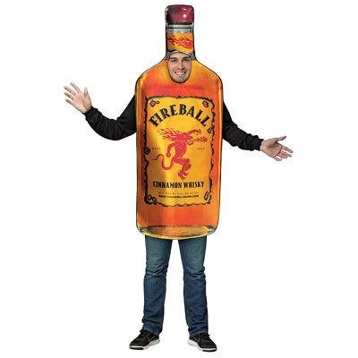 Adult Fireball Whiskey Bottle Halloween Costume