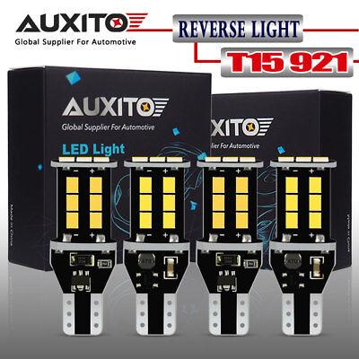 AUXITO 4X CANBUS 921 T15 Backup Light Bulb W16W 912 LED Reverse Light 6000K