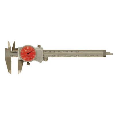 Mitutoyo 505-742-54 Dial Caliper6 Inred0.100 Inrev