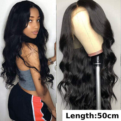 Lace Front women Wig Synthetic Sexy Long Wavy Hair Black Heat Resistant Hair -
