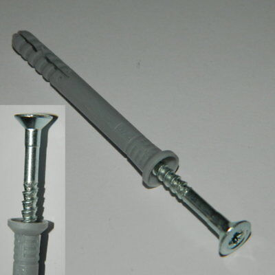 200 Stk. Schlagdübel / Nageldübel  8x60mm  vormontiert Kreuzschlitz