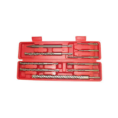 9 Pc Sds Shank Drill Bits Plus Concrete Masonry Rotary Tools W Case
