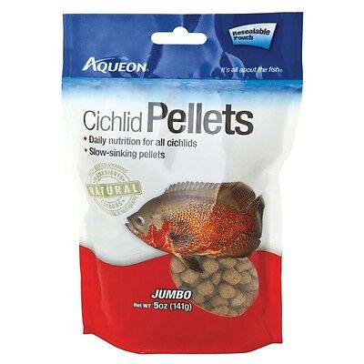Aqueon Cichlid Pellets Resealable Pouch Jumbo - 5 Ounce Resealable Pouch