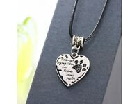 Dog Loss Rainbow Bridge Pet memorial necklace