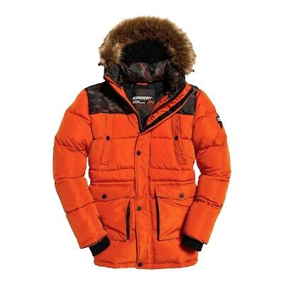Superdry Jacket Men SD Explorer Parka Bold Orange