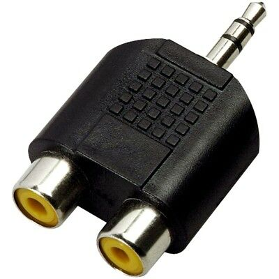 Adaptateur Jack 3,5mm male vers 2x RCA femelle / Jack Adapter to 2x female RCA
