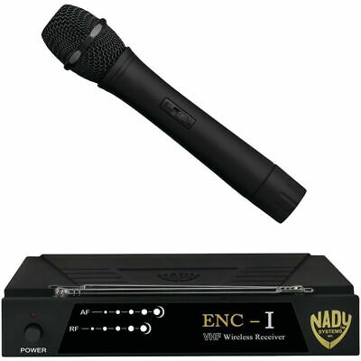 NEW Nady Encore 1 Wireless Pro Handheld Microphone Trans system channel D WHT-15 Nady Professional Wireless Handheld Microphone