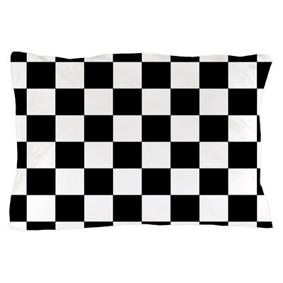 CafePress Black And White Checkerboard Pillow Case