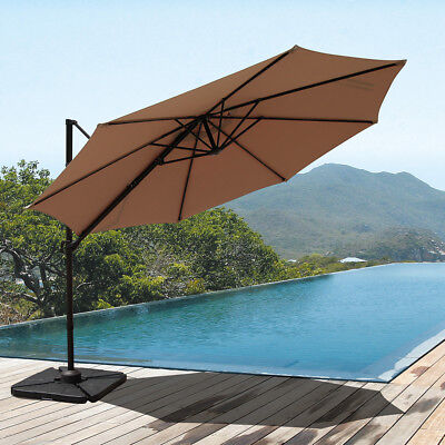 (New Patio Umbrella Offset 10 Hanging Umbrella with Vertical Tilt 360°,Cantilever)